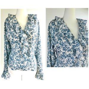 Anna & frank Silk blouse 🔵 L